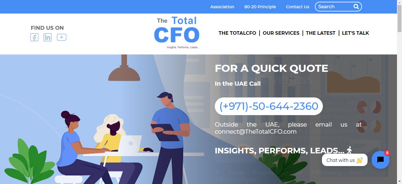 Website Design & Development for TheTotal CFO -