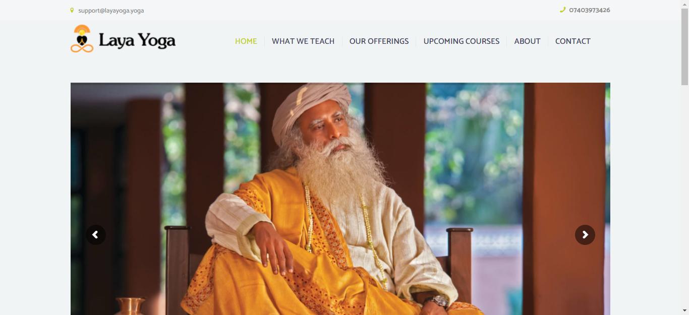 Website For Isha Hatha Yoga Teacher II Laya Yoga