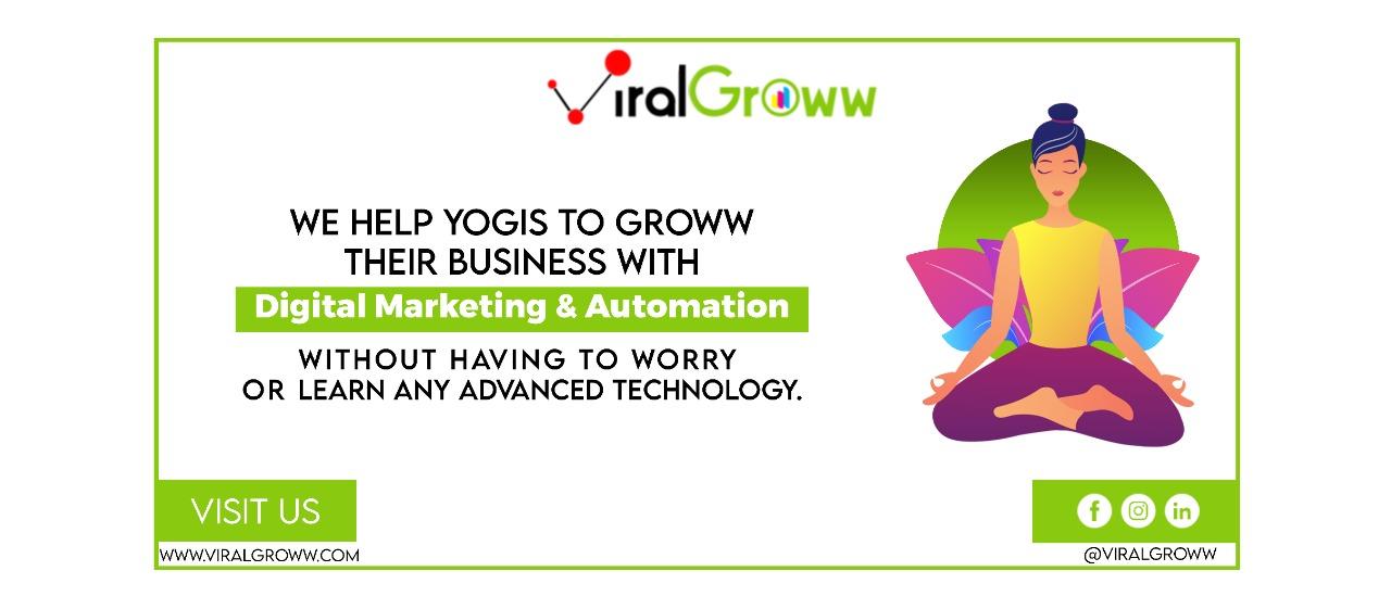 Viral Groww, a digital marketing agency for Yoga Studio Owners.